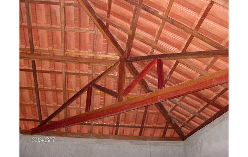 Cobertura em telha cerâmica